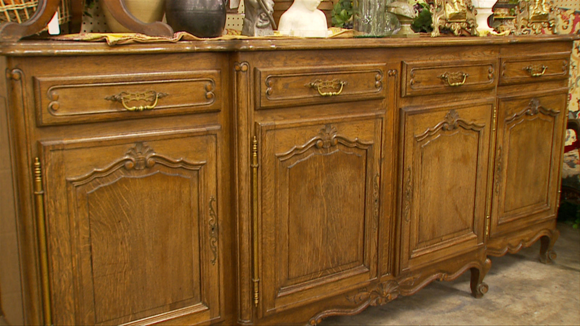 Detail  French Country Buffet. French  English and American Antiques   Relics Antique Mall