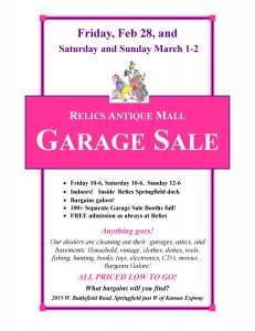 Garage Sale Sign Relics 2014, JPEG