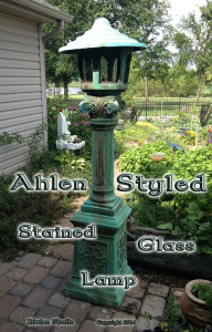Ahlen styled stained glass lamp