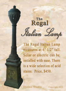 regal italian lamp relic set two