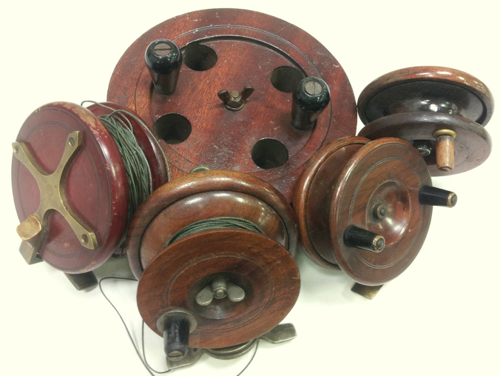 Antique Wooden Fishing Reels