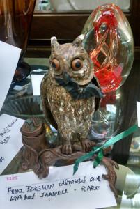 Franz Bergman sculptor of Bronze Owl Inkwell