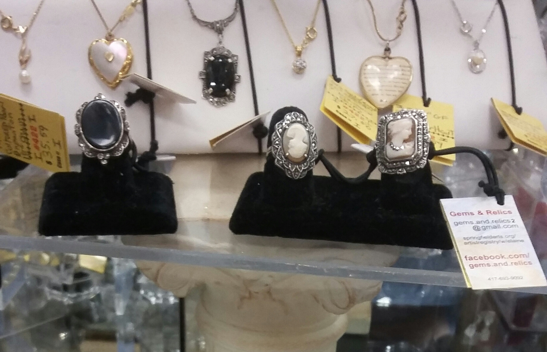Marcasite cameo ring with free gift box with ribbon or free ring box.